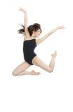 Salto del danzatore di balletto della donna di stile contemporaneo Immagini Stock Libere da Diritti