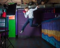 Salto del giovane Fotografia Stock Libera da Diritti