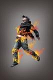 Salto del hombre del salto de la cadera Imagen de archivo