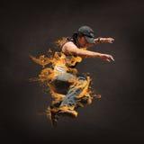 Salto del hombre del salto de la cadera Fotos de archivo