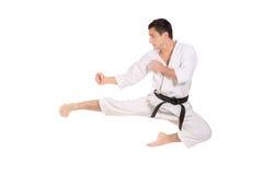 Salto del karate Imagen de archivo libre de regalías