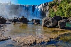 Salto del Lajas, huvudväg 5, Chile Royaltyfri Foto