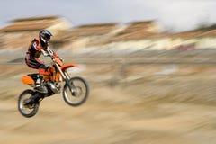 Salto del motociclo Immagine Stock