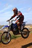 Salto del motocrós Imagenes de archivo