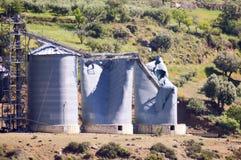 Salto del silos di grano Immagini Stock