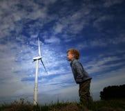 Salto del vento Immagini Stock Libere da Diritti
