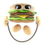 salto dell'hamburger 3d Immagini Stock