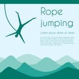 Salto della corda Fotografie Stock