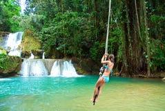 Salto della corda della Giamaica Fotografie Stock Libere da Diritti