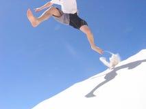 Salto della duna Fotografie Stock