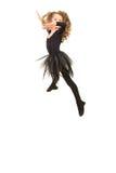 Salto della ragazza della ballerina di bellezza Immagine Stock Libera da Diritti