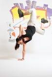 Salto della ragazza di B Fotografie Stock