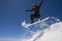 Salto dello Snowboard Fotografia Stock