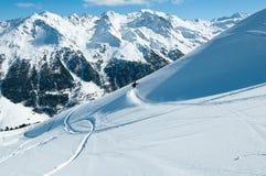 Salto dello snowboard Immagine Stock