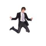 Salto dello studente di eleganza Fotografie Stock Libere da Diritti