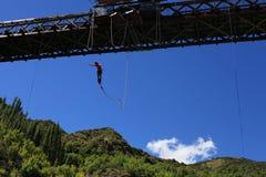 Salto di Bungy Fotografie Stock