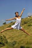 Salto di felicità fotografie stock libere da diritti