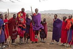 Salto di Mara dei masai Immagine Stock Libera da Diritti