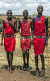 Salto di Mara dei masai Fotografia Stock Libera da Diritti
