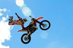 Salto di motocross Fotografie Stock