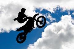 Salto di motocross Fotografia Stock Libera da Diritti