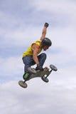 Salto di Moutainboard Immagine Stock Libera da Diritti