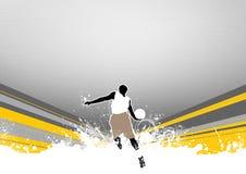 Salto di pallacanestro illustrazione di stock