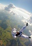 Salto di paracadute del coniglietto di pasqua Fotografie Stock