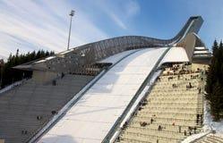 Salto di sci di Holmenkollbakken, Norvegia Fotografie Stock