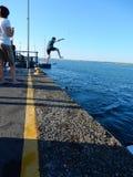 Salto di Quay fotografia stock