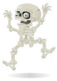 Salto di scheletro di Halloween con lo spavento Fotografie Stock