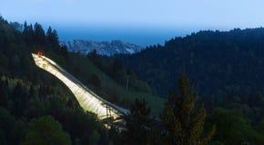 Salto di sci della Baviera Germania di Garmisch-Partenkirchen Fotografie Stock Libere da Diritti