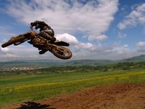 Salto di stile libero Fotografia Stock