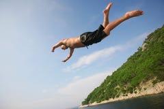 Salto di volo Immagine Stock