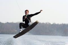 Salto di Wakeboard Fotografie Stock Libere da Diritti