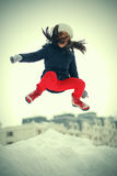 Salto divertido del adolescente Fotos de archivo