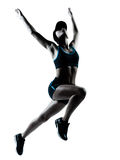 Salto do basculador do corredor da mulher Imagem de Stock Royalty Free