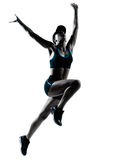 Salto do basculador do corredor da mulher Foto de Stock Royalty Free
