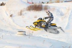 Salto do carro de neve do esporte Fotografia de Stock Royalty Free