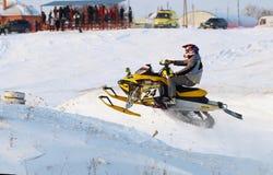 Salto do carro de neve do esporte Imagens de Stock Royalty Free