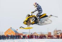 Salto do carro de neve do esporte Foto de Stock