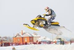 Salto do carro de neve do esporte Imagem de Stock Royalty Free