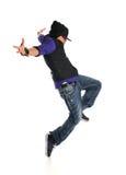 Salto do dançarino de Hip Hop imagem de stock royalty free