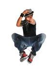 Salto do dançarino de Hip Hop fotos de stock royalty free