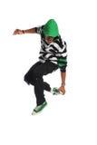 Salto do dançarino de Hip Hop imagem de stock