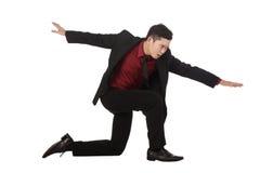 Salto do homem de negócio Fotografia de Stock