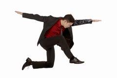 Salto do homem de negócio Fotos de Stock
