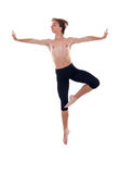 Salto do homem do bailado fotos de stock