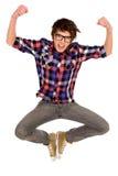 Salto do homem novo Foto de Stock