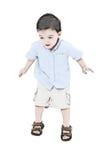 Salto do menino da criança da ilustração Fotografia de Stock Royalty Free